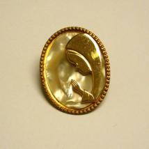 Vintage GoldTone Praying Blessed Virgin Mary Pin/Brooch  - $4.79