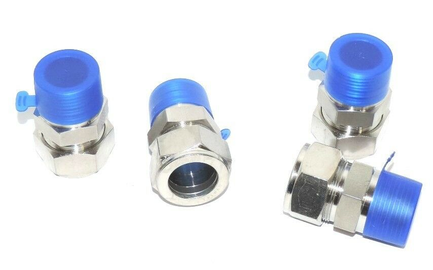 """LOT OF 4 NEW PARKER 16-316 CONNECTORS 1"""" TUBE TO 1"""" MALE THREAD 16316 - $150.00"""