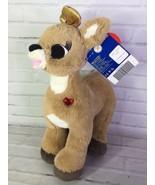 Build a Bear Rudolph Christmas Clarice Reindeer Plush Stuffed Animal Gol... - $15.83