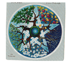 Pentagram Window Sticker t  Deadhead  Car Decal  Hippie  - $5.49