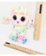 "POODLE DOG TY BEANIE BOOS RAINBOW 6"" SMALL PLUSH TOY STUFFED FIGURE USED... - $6.88"