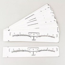 Melleco 50pcs Disposable Eyebrows Rulers Stickers Makeup Tattoo Shaper M... - ₨1,229.33 INR