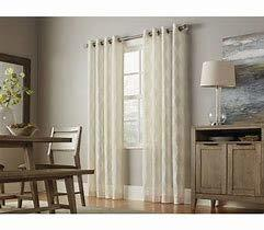 "Primary image for allen + roth Breesport 84"" L x 52"" W Linen Polyester Sheer Single Curtain Panel"