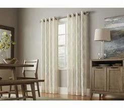 "allen + roth Breesport 84"" L x 52"" W Linen Polyester Sheer Single Curtain Panel - $33.34"