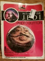 New Star Wars JABBA THE HUT Return of the Jedi 1983 Photo Button Vintage - $4.55