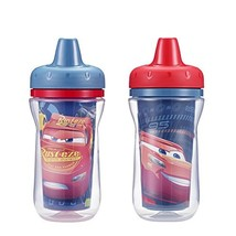 The First Years Insulated Sippy Cups, Cars, 9 Ounce Pack of 2 - $8.99