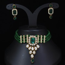 Bollywood Indian Gold Tone Bridal Fashion Jewelry Necklace Earring Set - $12.99