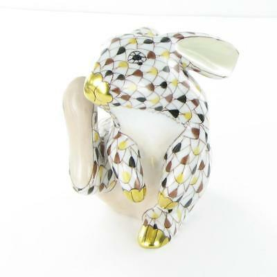 "Herend Scratching Bunny Mosaic Fishnet Hungary Porcelain 3"" New VH3CO-15387"