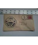Home Treasure Postal Cover Envelope 1934 Postmark USS Portland ME Ship R... - $9.49