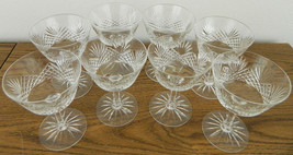 """WATERFORD Set 8 LISMORE Crystal Wine Champagne Dessert 5.25"""" Tall 3.75"""" ... - $178.19"""