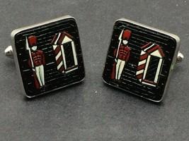 Shields~Vintage Chrome~Queen's Royal Guard~Cufflinks~Excellent! - $33.25