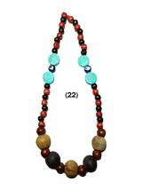 Tibetan Banjara Necklace Stone Glass Turquoise Beaded Boho Tribal India ... - $14.48