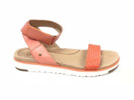Ugg Australia Laddie Women's Ankle Strap Fire Opal Orange Sandal 1015669 Shoes image 3