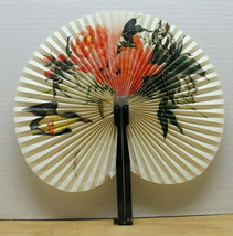 Chinese Folding Hand Fan - Decorated with a Bird and Flowers - unique de... - $3.95