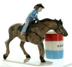 Hagen Renaker Specialty Horse Rodeo Barrel Racer Ceramic Figurine image 6