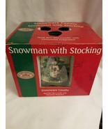 Renwick Candles Snowman with Stocking Stoneware Candle Cinnamon Scent - $5.89