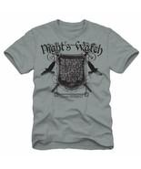 Game of Thrones TV Series Night's Watch Oath Light Grey T-Shirt NEW UNWORN - $16.99