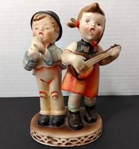 Nasco Hummel Inspired Porcelain Figurine Children With Musical Instrumen... - $8.99