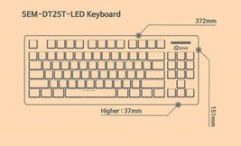 QSENN SEM-DT25T Korean English Gaming Tenkeyless Keyboard USB Wired Compact image 5