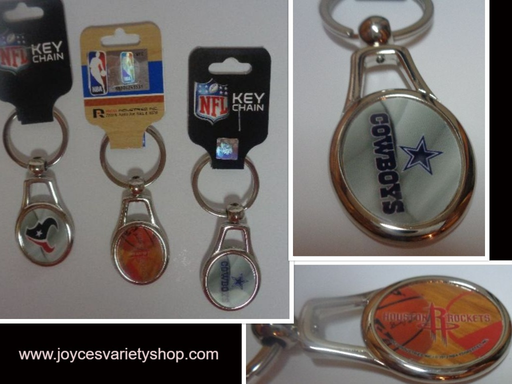 Key chains sports web collage