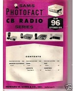 Sams Photofact CB Radio CB-96 September 1976 - $1.75
