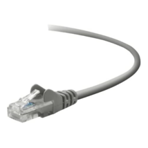 Belkin Snagless Patch Cable,CAT5E,UTP,RJ45M/M,2',Grey - $5.93