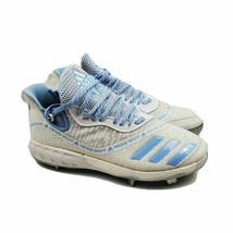 adidas Men Icon Boost Iced Out Baseball Sports Cleats White Blue EF1243 Size 12 - $49.95