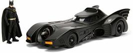 "Dc Comic 1989 Batmobile With 2.75"" Batman Metals Diecast Vehicle With Fi... - $17.86"