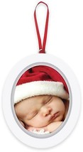 Pearhead 'Baby's 1st Christmas' Babyprints Photo Ornament in White - $20.10