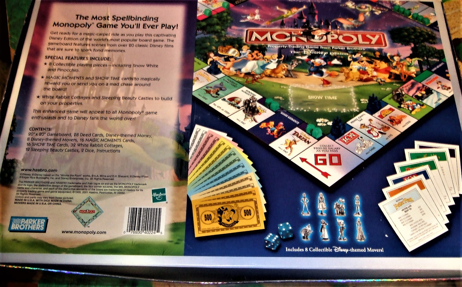 Monopoly - Property Trading Game From Parker Brothers - The Disney Edition  2001 image 11