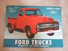 Ford F-100 Pick up Truck on a Metal Tin Sign - $25.00