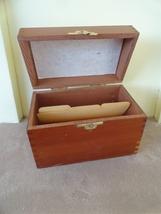 Vintage Kitchen Cooking Pine Wooden Recipe Box ... - $14.99