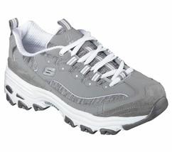 Skechers EW Wide Fit Gray Dlites shoe Women Sport Memory Foam Soft Sneak... - £38.14 GBP