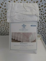 Simply Shabby Chic Embroidered Bed Skirt -QUEEN-  WHITE -  -NEW W TAGS image 2
