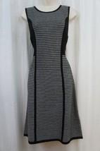 Calvin Klein Dress Sz 1X Black Multi Color Sleeveless Evening Sweater Dress - $67.08