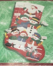 Bucilla/HT Felt Applique Christmas Stocking CHEERFUL SNOWMEN & SANTA Kit... - $29.99