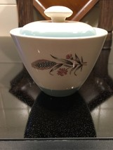 Vintage Homer Laughlin Spring Garden Sugar Bowl with Lid - $24.75