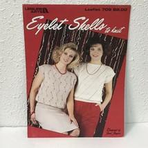 Eyelet Shells to Knit 2 Designs by June Jasper Leisure Arts LA 708 Vtg 1988 - $7.43