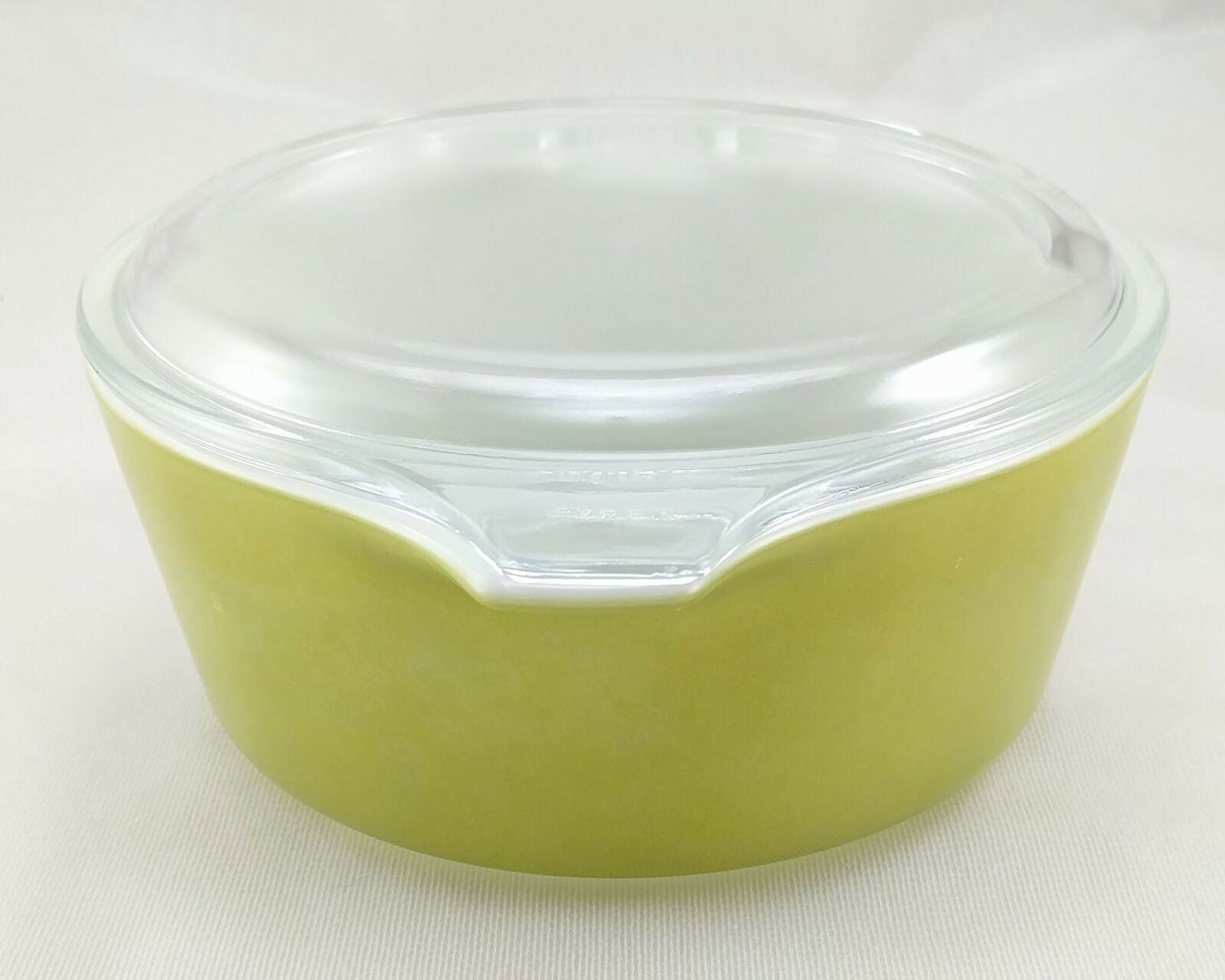 Pyrex 472 Olive Green Vintage 1½ Pint Casserole w/ 470-C Lid ~ Made in the USA image 4