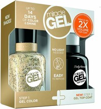 Sally Hansen Miracle Gel Duo Pack For The Thrill & Top Coat - $7.36