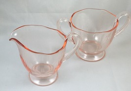 Fairfax, Line No. 2375, Pink, Full Size, Creamer and Sugar, made by Fost... - $20.00