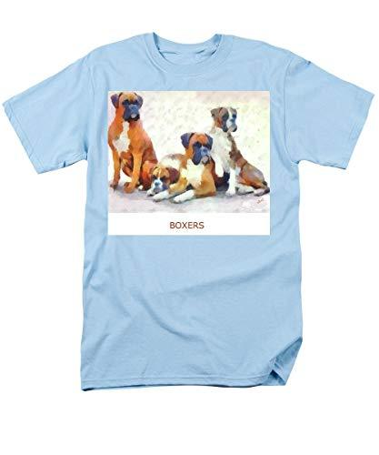 Primary image for Boxer Quartet - Men's T-Shirt (Regular Fit) - Light Blue/Medium
