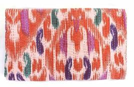 Indian Handmade Quilt Multi Ikat Kantha Bedspread Throw Cotton Blanket B... - £34.94 GBP