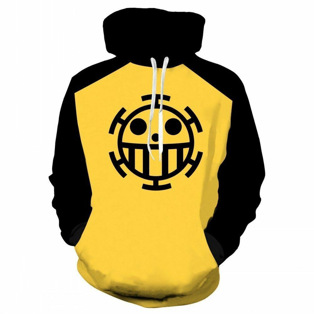 Anime One Piece Trafalgar Law Hoodie Sweatshirts Pullover Jumper Cosplay Costum - $19.99