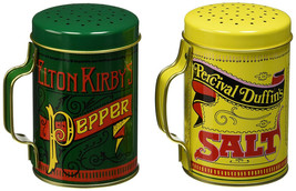 NEW Salt and Pepper Shakers Nostalgic 2 Piece Set With Handles Large Holes - $9.61