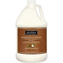 Bon Vital' Coconut Massage Lotion Made with 100% Pure Fractionated Coconut Oil,
