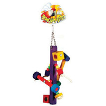 New Prevue Pet Spinner Bodacious Bites Bird Toy 5x16 In 048081623688 - £29.59 GBP