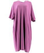 Isaac Mizrahi SOHO Elbow Slv Sweatshirt Dress Hood Orchid Bloom 1X NEW A... - $41.56