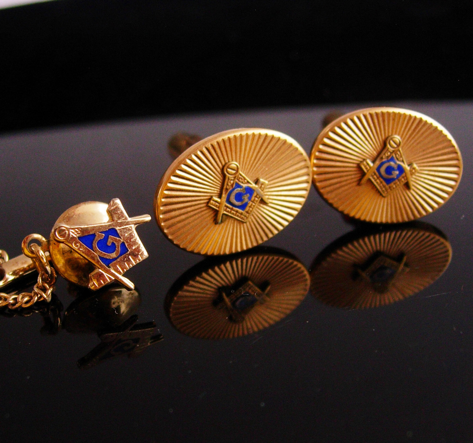 f7f489a760cd Vintage Masonic Cufflinks / Masonic tie tack and 19 similar items. Masonic5