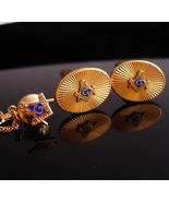 Vintage Masonic Cufflinks / Masonic tie tack / Krementz Fraternal set / ... - $195.00